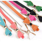 Sweet Lady's Faux Leather Skinny Bow Tie Waist Band Belt 10 Colors Summer New