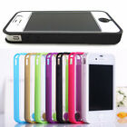 Hot TPU Frame Ultra Thin Clear Hard Back Full Body Case Cover for iPhone 4 4S 5S