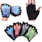Fashion Men Bicycle Mountain Bike Cycling Riding Antiskid Half Finger Gloves New