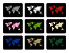 Glass Chopping Board Kitchen Accessories Worktop Saver Black Colourful Map World
