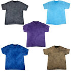 New Colortone Mens Mineral Wash Top Short Sleeved Crew Neck T-Shirt Size S-XXL