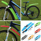 Mountain MTB Bike Bicycle Tyre Tire Front Rear Mudguards Fenders Set Mud Guard