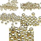 Lot of 100 Shiny Gold Finish Steel Metal Round Ball Spacer Jewelry Accent Beads