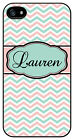 Personalized Monogram Chevron Light Pink case for Iphone 4 4s 5 5s 5c M325