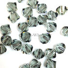 4mm Black Diamond (215) Genuine Swarovski crystal 5328 / 5301 Loose Bicone Beads