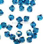 4mm Indicolite (379) Genuine Swarovski crystal 5328 / 5301 Loose Bicone Beads