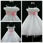 P818A Pinks Princess Wedding Party Bridesmaid Dress Flower Girls Dress SIZE 2-3Y