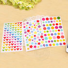 New Funny Stickers Colorful Love Round Five-pointed Star Beautify Decoration DIY