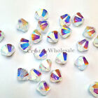 6mm Crystal AB 2x (001 AB2) Swarovski crystal 5328 / 5301 Loose Bicone Beads