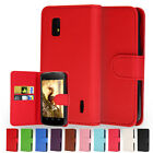 Flip Wallet Leather Case Cover For LG Google Nexus 4 E960 Free Screen Protector