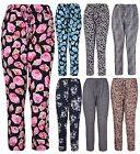 Womens New Animal Floral Print Ladies Elasticated Drawstring Trousers Plus Size