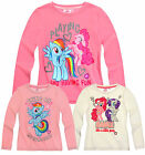 Girls My Little Pony Long Sleeve T Shirt Kids Cream Pink Top New Age 2 - 8 Years