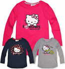 Girls Hello Kitty T Shirt Kids Long Sleeve Tee Top Pink New Age 3 4 6 8 Years