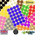 48 x 32mm Coloured DOT STICKERS Round Sticky Adhesive Spot Circles Paper Labels
