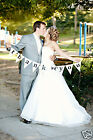 Wedding Bunting Quotes Just Married, Love, Happy Ever After, Bride & Groom,