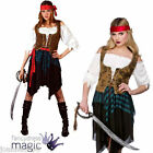 LADIES SEXY CARIBBEAN PIRATE BUCCANEER FANCY DRESS PARTY COSTUME BOOK WEEK DAY