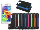 Dual Layer Hybrid Armor Rugged Hard Case for Samsung Galaxy S5 Mini
