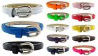 BB ACCESSORIES SUPER SKINNY LEATHER-LOOK PATENT Womens Ladies Belt All Sizes
