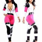 Women Bandage Bodycon Jumpsuit Bodysuit Clubwear Party Dress Romper V Neck Sexy