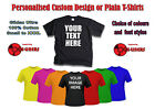 Personalised Custom Designs Printed T-Shirts and Plain T-Shirts