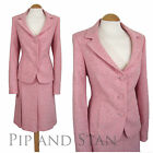 AUSTIN REED SIZE 10 PINK WOOL TWEED A LINE SKIRT SUIT 50S STYLE WOMENS LADIES