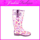 NEW LADIES WATERPROOF WINTER WELLINGTON SNOW RAIN  LONG BOOTS SIZES UK 3-8