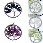 1x Fashion Wire Wrap Life-Tree Chips Gem Stone Pendant Bead for Necklace Jewelry