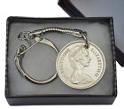 5P PENCE COIN KEYRING OLD STYLE CHOICE OF DATE 1968 - 1989 PERFECT + GIFT BOX