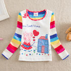 Peppa pig sweet home long sleeved 100% cotton white top (18Months-6Years)