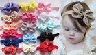 Baby Girls Puffy Bow Hairband Soft Elastic Headband Hair Accessories Band