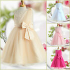 Beige Gold Communion Christmas Wedding Flower Girls Party Dresses SZ AGE 2 to 12
