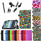 6in1 Bundle Folio Leather Case Cover for Samsung Galaxy Tab 3 7.0 inch SM-T217S