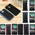 Rugged Hybrid Heavy Duty Impact Hard PC+Soft TPU Case Cover For New HTC One 2 M8