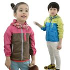 Kids Clothes Boys Girls Toddlers Long Sleeve Casual Sport Coats Tops Ages 3-8Y