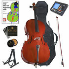 Cecilio Student Cello 4/4 3/4 1/2 1/4 +Soft & Hard Case+Tuner+Book ~CCO-100+HC