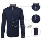 Promotion Long Sleeve Basic Fit Shirt Tops Formal Business Men Slim Dress Shirts