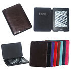 Crazy Horse PU Leather Folio Case Cover For Amazon Kindle Paperwhite 1 2&3G Wifi