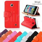 Leather Flip Wallet Book Phone Pouch Case Cover For Nokia Lumia 630