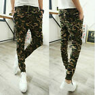 New Camouflage Camo Sweat Pants Men's Casual Harem Jogger Taper Trousers Slacks