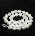Christmas gift Rare Huge 8-20 mm south sea White Shell Pearl Necklace AAA