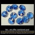 Crystal Octagon A-Grade 14mm 2 Hole LIGHT SAPPHIRE BLUE x 10 - Suncatcher