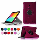 "For LG G Pad 7.0"" V400 V410 Tablet Rotating Leather Smart Wake Case Cover Stand"