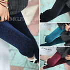 SEXY LADIES SLIM VELVET LEGGING PLEUCHE PANTYHOSE HOLLOW FLOWER TIGHTS PANT