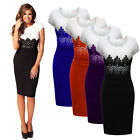 New Sexy Women Celeb Lace Wear Evening Cocktail Party Bodycon Slim Pencil Dress