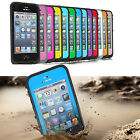 PC Waterproof Shockproof Dirtproof Hard Cover Durable Case For iPhone 5 5S /4S 4