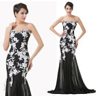Chiffon & Lace Long Cocktail Prom Dress Party Evening Ballgown Homecoming Dress
