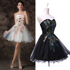 SUPER CHEAP!!! NEW SHORT Peacock Formal Prom Dance Ball Evening Party Dress Gown