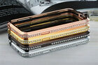 Bling Crystal Diamond Metal Bumper Case Cover For Samsung Galaxy S4 mini i9190