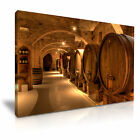 WINE BARREL Canvas Framed Print Pub Club Deco - More Size