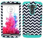 Phone Cover for LG G3 Dual Layer Case Black Chevron Waves Tribal Mint Blue